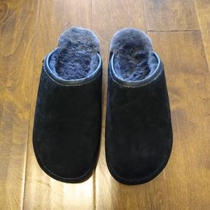 Men's 12 13 Old Friend Shearling Slippers leather